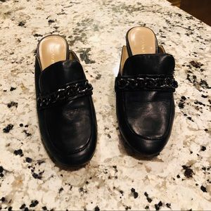 Enzo Angiolini Black loafer style mules / clogs 7